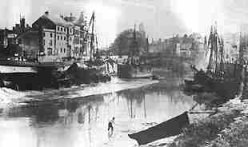 The River Parret in Bridgwater